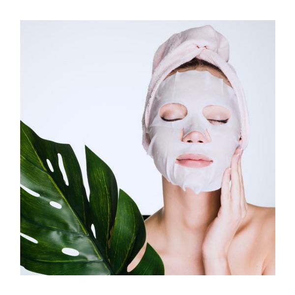 Maschera viso in seta naturale